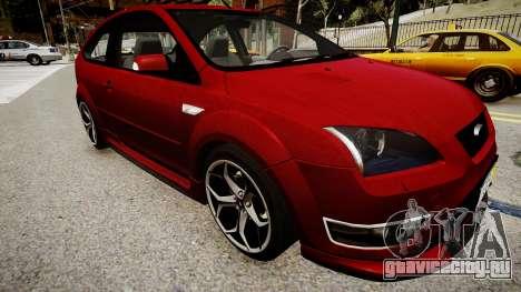 Ford Focus ST 2005 для GTA 4 вид справа