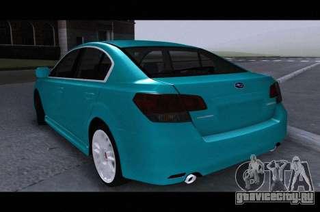 Subaru Legacy B4GT 2010 для GTA San Andreas вид слева