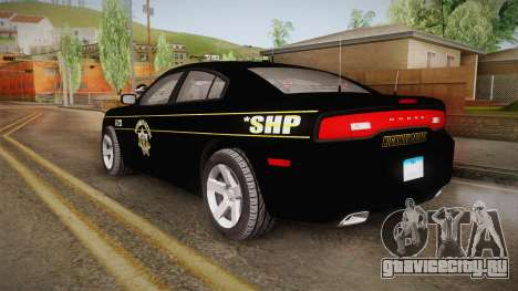 Dodge Charger 2013 SA Highway Patrol v2 для GTA San Andreas вид слева