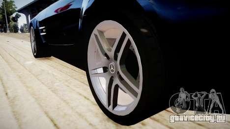 Mercedes-Benz SLS63 AMG для GTA 4 вид сзади
