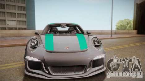 Porsche 911 R (991) 2017 v1.0 Green для GTA San Andreas вид сзади