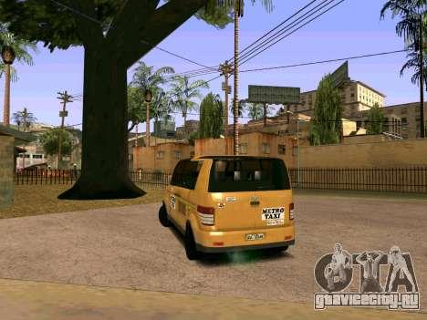 MetroTaxi для GTA San Andreas вид сзади слева