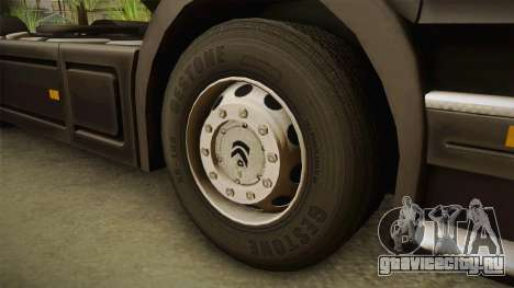 Scania V8 для GTA San Andreas вид сзади