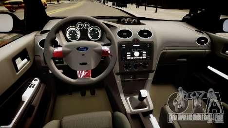 Ford Focus ST 2005 для GTA 4 вид изнутри