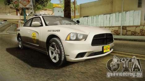 Dodge Charger 2012 SA State Patrol для GTA San Andreas вид справа