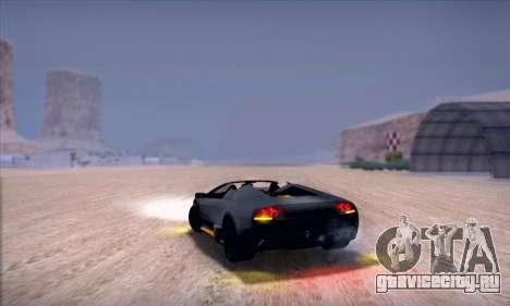 Lamborghini Murcielago LP650-4 Roadster (IVF) для GTA San Andreas вид сзади