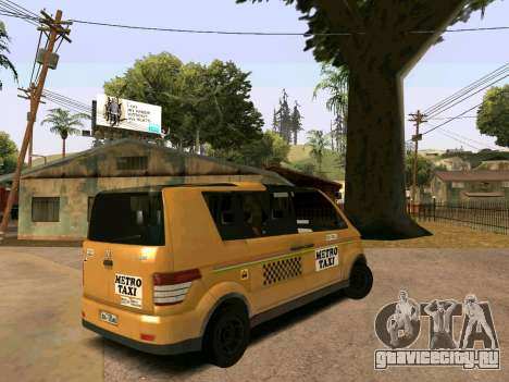 MetroTaxi для GTA San Andreas вид слева