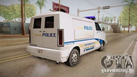 Brute Pony 1992 Metropolitan Police Department для GTA San Andreas вид слева