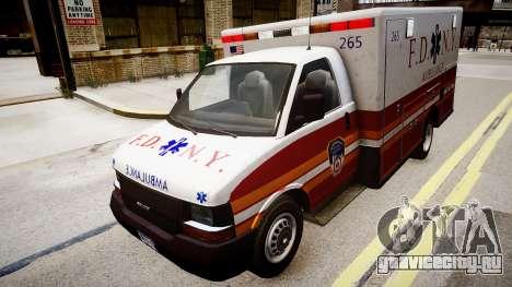 F.D.N.Y. Ambulance для GTA 4 вид справа