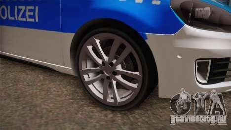 Volkswagen Golf Mk6 Police для GTA San Andreas вид справа