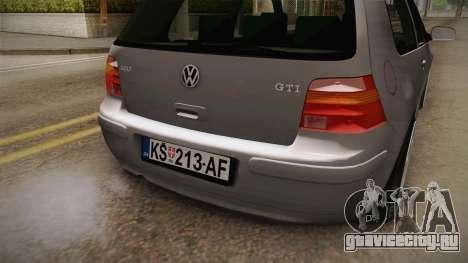 Volkswagen Golf Mk4 GTI для GTA San Andreas вид изнутри