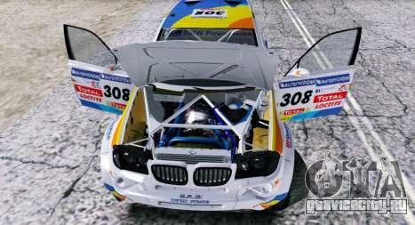 BMW X3 CC X-Raid для GTA San Andreas вид сзади
