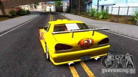 Elegy Paintjob DriftWorks для GTA San Andreas вид сзади слева
