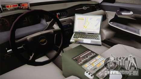 Chevrolet Impala Turkish Police для GTA San Andreas вид изнутри