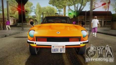 Nissan Fairlady Z 432 1969 для GTA San Andreas вид сбоку