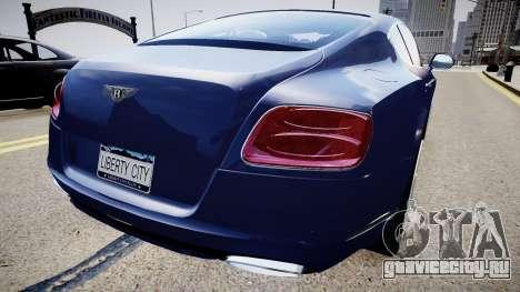 Bentley Continental GT 2011 [EPM] v1.0 для GTA 4 вид сзади слева