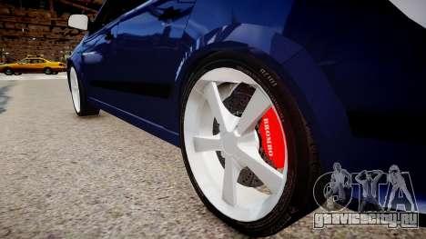 Opel Astra 1.9 TDI для GTA 4 вид сзади