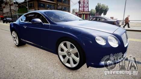 Bentley Continental GT 2011 [EPM] v1.0 для GTA 4 вид справа