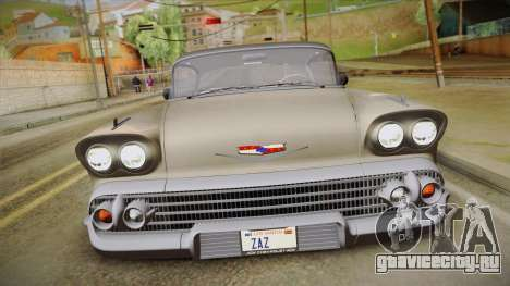 Chevrolet Impala Sport Coupe V8 1958 HQLM для GTA San Andreas вид сзади