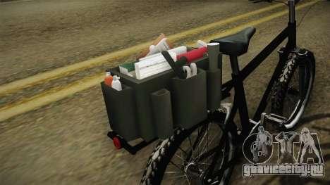Police Mountain Bike для GTA San Andreas вид сзади