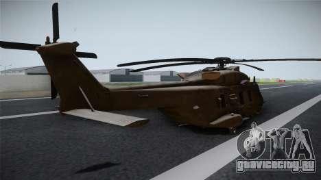 CoD: Ghosts - NH90 для GTA San Andreas вид слева