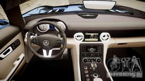 Mercedes-Benz SLS63 AMG для GTA 4 вид изнутри