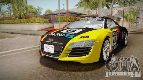 Audi Le Mans Quattro 2005 v1.0.0 YCH Dirt для GTA San Andreas вид снизу