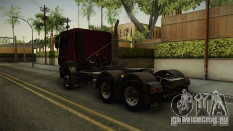 Iveco Trakker Hi-Land 6x4 Cab Low v3.0 для GTA San Andreas вид сзади слева