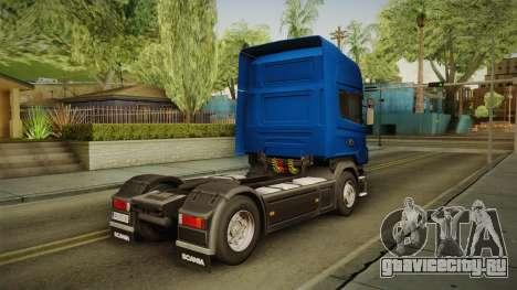 Scania V8 для GTA San Andreas вид слева