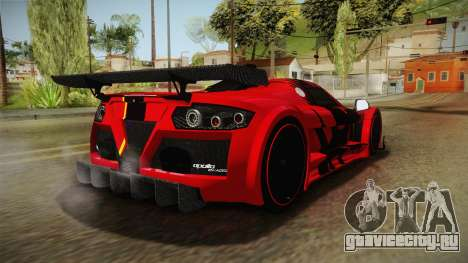 Gumpert Apollo Enraged для GTA San Andreas вид слева