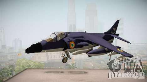Sea Harrier White Tigers Squadron Indian Navy для GTA San Andreas вид сзади слева