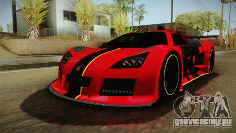 Gumpert Apollo Enraged для GTA San Andreas вид справа
