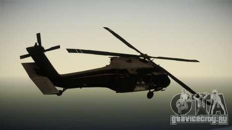 CoD 4: MW - UH-60 Blackhawk US Army Remastered для GTA San Andreas вид справа