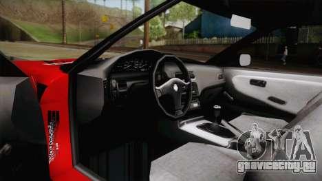 Nissan 180SX Drift для GTA San Andreas вид изнутри