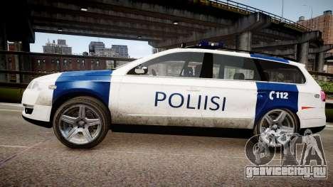 Finnish Police Volkswagen Passat (Poliisi) для GTA 4 вид слева