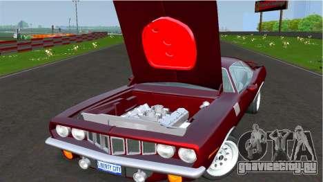 Plymouth Barracuda для GTA 4 вид сзади