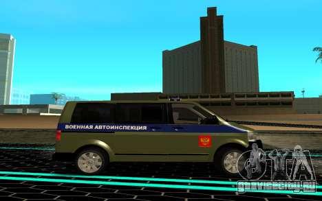 Volkswagen Transporter для GTA San Andreas вид слева