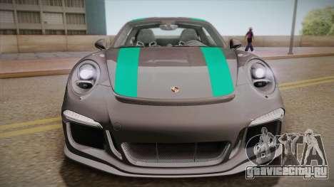 Porsche 911 R (991) 2017 v1.0 Green для GTA San Andreas вид справа