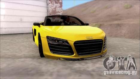 Audi R8 Spyder 5.2 V10 Plus для GTA San Andreas вид сзади слева