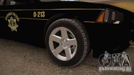 Dodge Charger 2013 SA Highway Patrol v2 для GTA San Andreas вид сзади