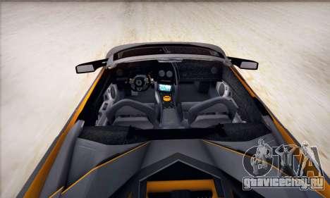 Lamborghini Murcielago LP650-4 Roadster (IVF) для GTA San Andreas вид сзади слева