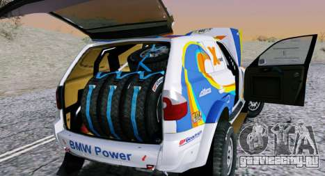 BMW X3 CC X-Raid для GTA San Andreas вид справа