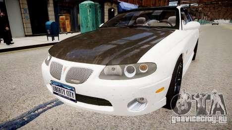 Pontiac GTO для GTA 4 вид справа
