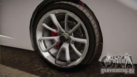GTA 5 Pegassi Vacca 9F Roadster (Coupè) для GTA San Andreas вид сзади