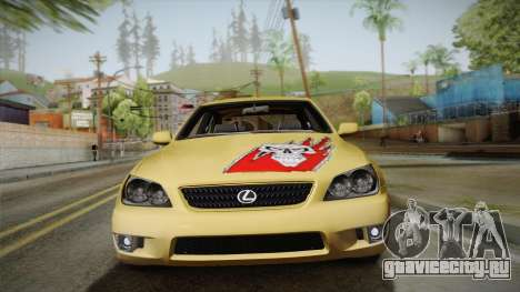 Lexus IS300 NFSMW05 PJ для GTA San Andreas вид сзади