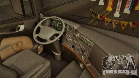 Scania V8 для GTA San Andreas вид изнутри
