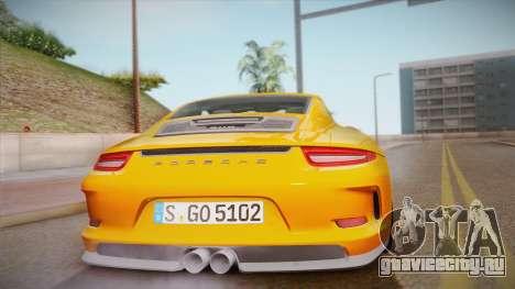 Porsche 911 R (991) 2017 v1.0 для GTA San Andreas вид изнутри