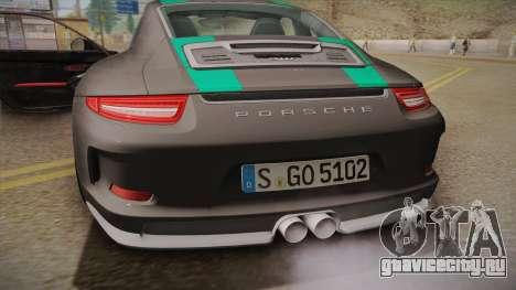 Porsche 911 R (991) 2017 v1.0 Green для GTA San Andreas вид изнутри