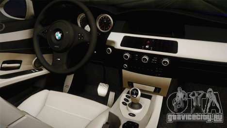 BMW M5 E60 Police для GTA San Andreas вид сзади
