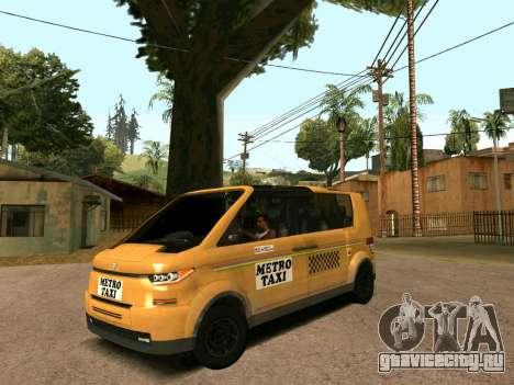 MetroTaxi для GTA San Andreas